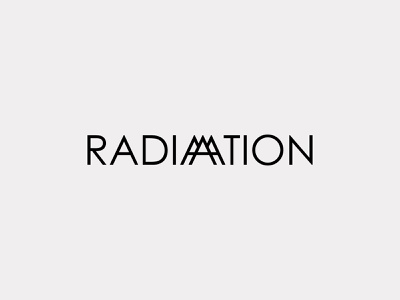 Nuclear Radiation Wordmark Logo Design minimal graphic design logotype type logo mark logo design logo branding wordmark chernobyl radiation nuclear