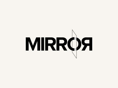 Mirror Wordmark Letter Mark Logo Design branding typography logotype design logo design wordmark letter mark logo logo mark mark letter mirror
