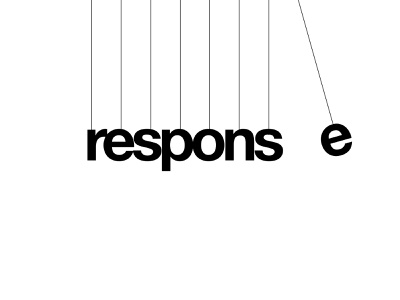 Response Wordmark Logo Design Concept branding typography type mark letter mark logo design logo wordmark momentum cradle newton response