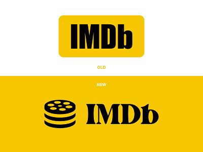 IMDB.com Logo Redesign logo mark movie theater netflix branding logo redesign logo logo design movie app logo database icon film roll internet movie database imdb