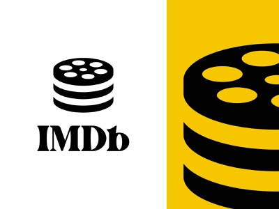 IMDB.com Logo Redesign logo mark movie theater netflix branding logo redesign logo logo design movie app logo database icon film roll internet movie database imdb