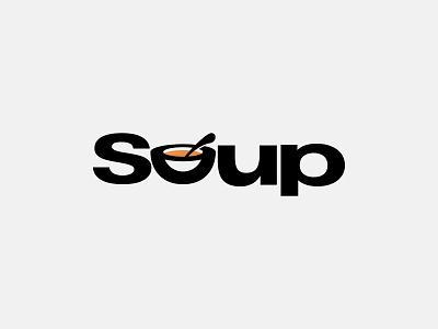 Soup Wordmark Logo Design Concept wordmark logo food spoon branding logo design logo logo mark letter mark mark wordmark noodle soup