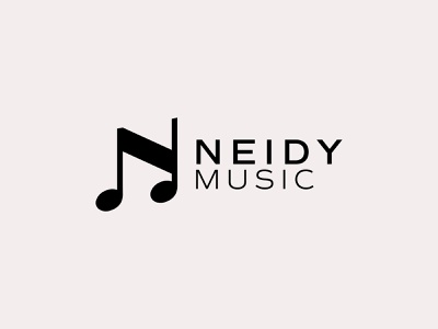 N + Musical Notation Logo Mark Design concert song branding monogram musical notation music logo n logo letter n letter mark logo design logo mark logo