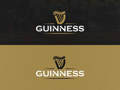 Guinness rebrand concept (cont.) guinness vector illustrator brand logo illustration identity icon design concept clean branding