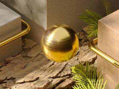Experimenting new styles lighting 3d art texture gold simple minimalism photoshop 3ds max coronarender