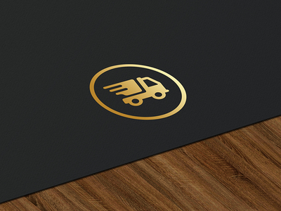 Delivery App Logo gold logo truck express pickup delivery