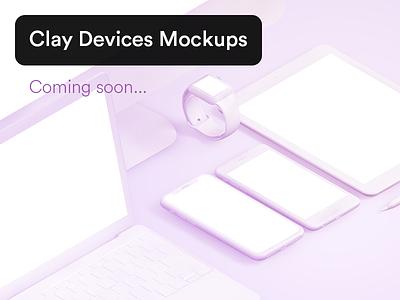 Clay Apple Devices Mockups apple watch mockup macbook mockup imac mockup ipad mockup iphone mockup apple mock ups