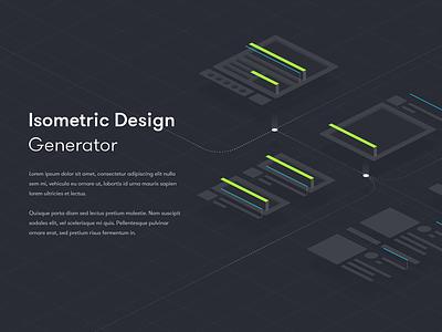 Isometric Design Generator ui deisgn 3d background design hero banner isometric design