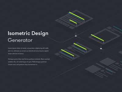 Isometric Design Generator ui deisgn 3d background design hero banner isometric design