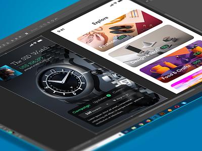 Crowdfunding App Concept campaign categories app concept ui design indiegogo kickstarter crowdfunding