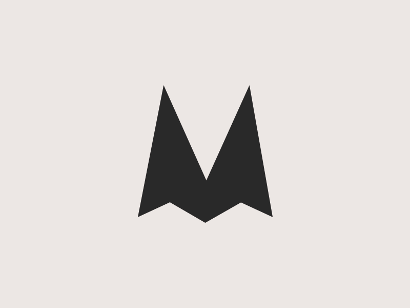 M Shadow Logo black logo 3d logo shape logo text logo shadow logo letter logo m logo