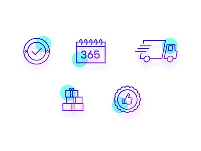 Ecommerce Icons ecommerce website ecommerce design calendar icon shipping icon icons