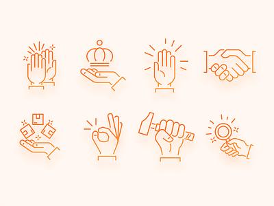 Hands Icons hands hands icons website icons icons ecommerce