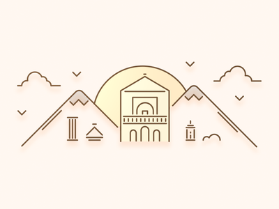 Marrakesh City Illustration