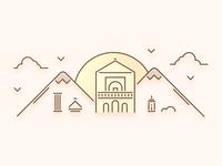 Marrakesh City Illustration