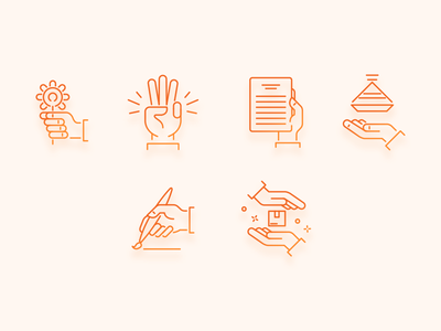 Hands Icons Set #2 illustration website icons icons hands icons hands ecommerce