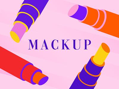Mackup Instagram Post Assets campaign icon ecommerce illustraion icons lipstick beauty mackup