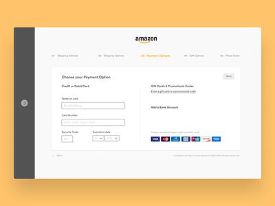 Amazon — Checkout ecommerce events design ui ux checkout process checkout flow checkout page desktop clean redesign amazon checkout