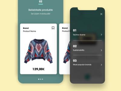 Lifestyle App - Menu