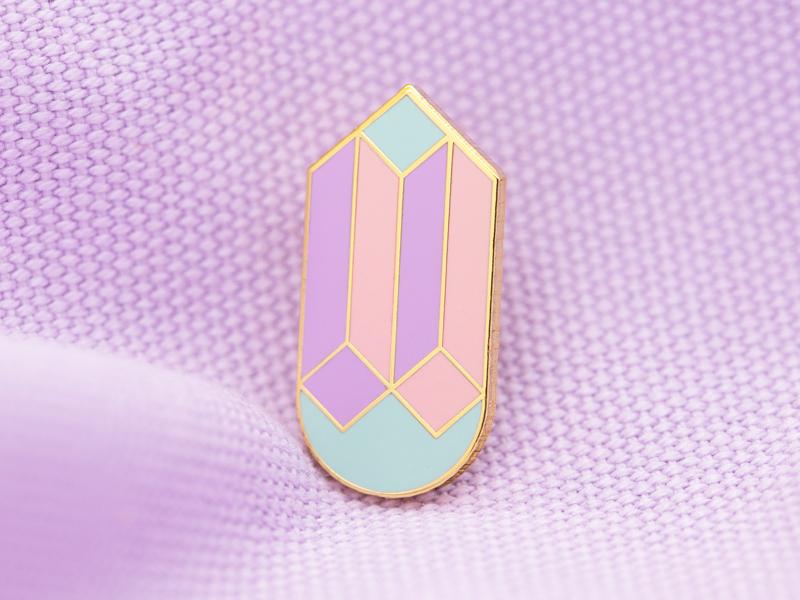 Drop Cube Enamel Pin cube geometic photography lapel pin enamel pin design vector