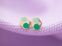 Geo - Hex Earrings