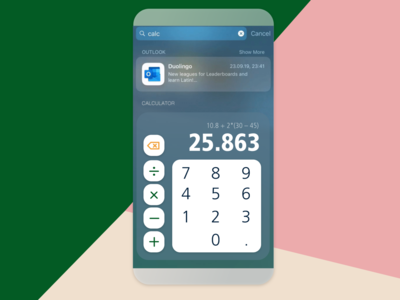 Daily UI 004 – a calculator!