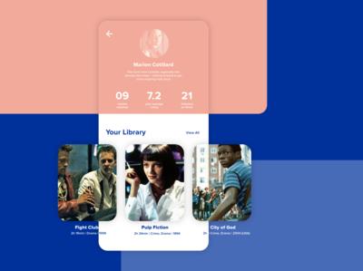 User Profile – Film Library #DailyUI