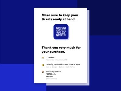 Email Receipt / QR Code – DailyUI #017