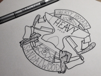 Heavy Hold typography lettering illustration drawing retro