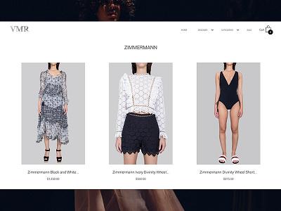 VMR website chicago fashion shopify web design design fashion