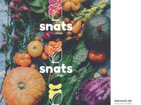 "logo design and naming for ""Snats"", Natural Snacks, plant Based"