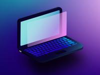Isometric Laptop
