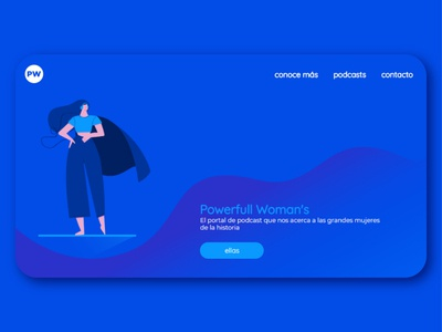 Responsive landing page 'Powerfull woman'