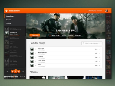 Grooveshark Redesign
