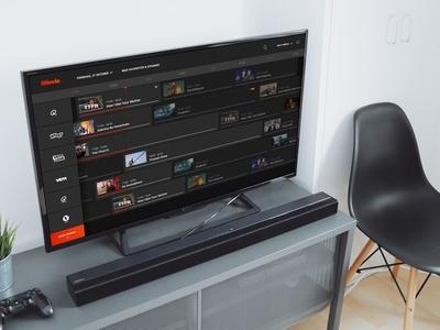 Stievie concept - Mockup digibox remote stievie tv