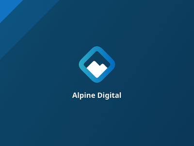 Alpine Digital blue company logo