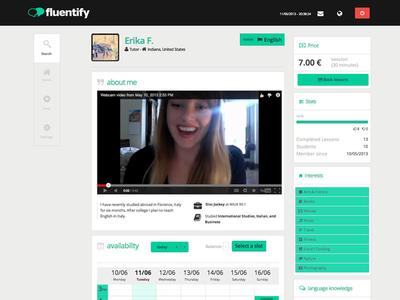 Fluentify user profile (beta 2013)