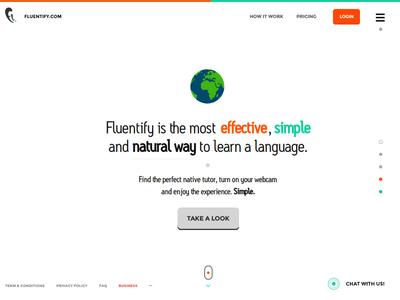 Fluentify Homepage (2014)