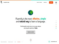 Fluentify Homepage (2014)