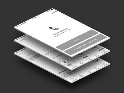 Wireframe Fluentify iOS app