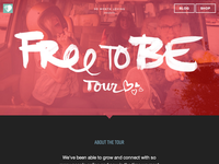 Free To Be Tour Landing Page