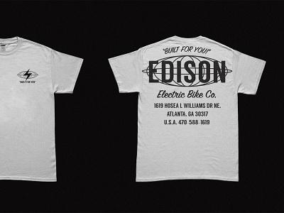 Edison Electric bike co shirts bicycle tshirt tee shirt shirtdesign shirt