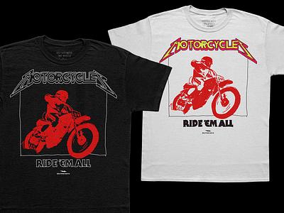 don't sue me lars. motorcycles illustration vintage vintage tee metal tshirt shirts