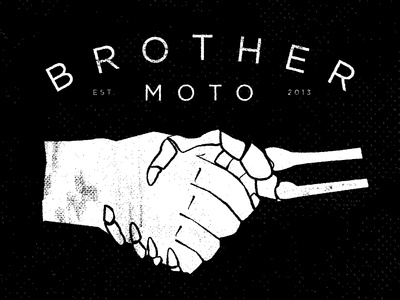 Shake of death motorcycle brother moto handshake death handmade hand drawn