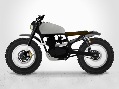 Brother Moto Cb450 Scrambler Concept brother moto motorcycle cb450 honda scrambler cafe racer