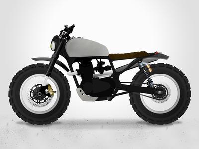 Brother Moto Cb450 Scrambler Concept