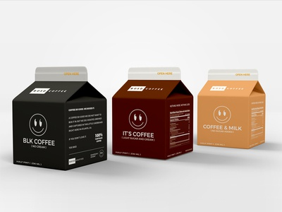 Coffee packaging branding box smile coffee packaging