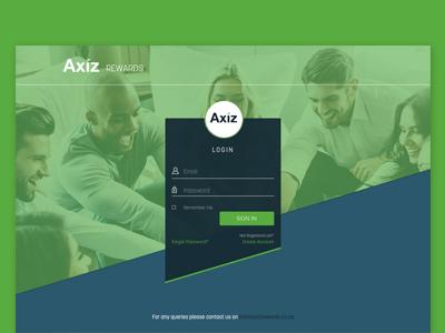 UI UX Design - Axiz Rewards Portal Design