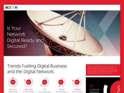 UI UX Design - Bcx Lead Generation Page