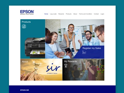 Epson Sir Portal ux design ui design ux ui